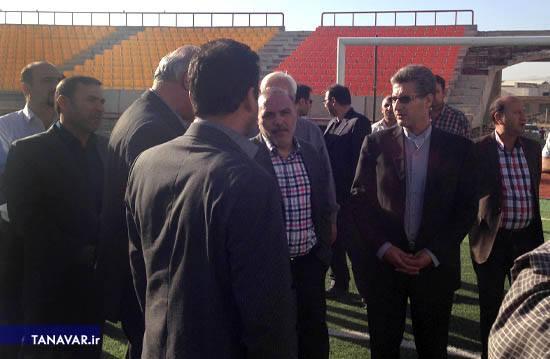 بازدید جناب آقای مهندس مدبر، مدیر عامل محترم شرکت توسعه و نگهداری اماکن ورزشی کشور از پروژه های ورزشی استان آذربایجان غربی