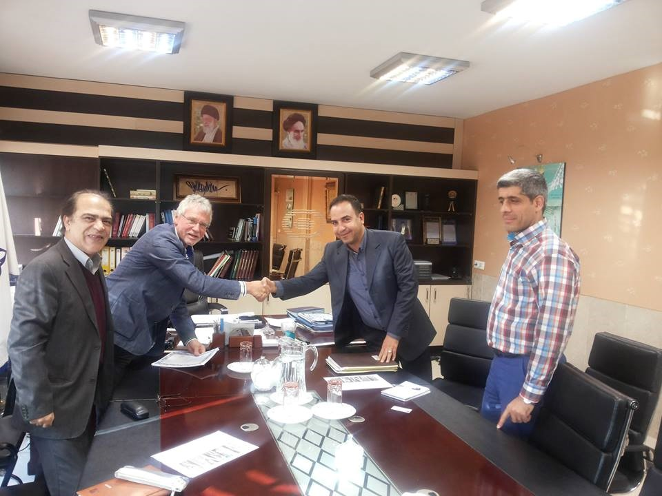 Breakfast at the office of Mr. Eng. Abbassi, Deputy Minister of Engineering and Engineering of the company for the development and maintenance of sports facilities in the presence of Mr. Eng. Sander Duma