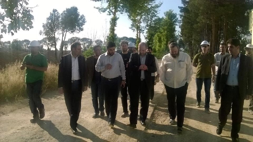 Visit of Mr. Dr. Ghalibaf, mayor of Tehran, from the project of cultural and religious complex near the city of Aftab on March 25,