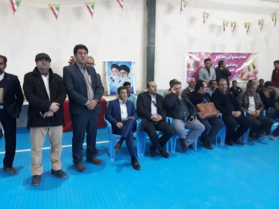 افتتاح سالن ورزشی چند منظوره سیوند در استان فارس، از پروژه های تحت نظارت شرکت در تاریخ ۹۶/۱۱/۲۰