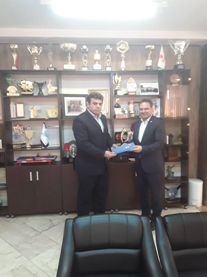 Presented a plaque of appreciation to Mr. Rahimian, CEO of Day Engineer