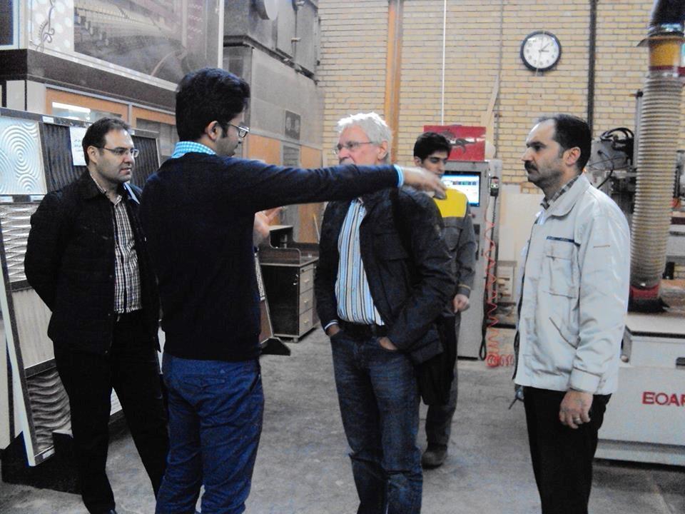 بازدید از کارخانه سیما چوب توسط آقای مهندس رحیمیان و آقای مهندس ساندر داما