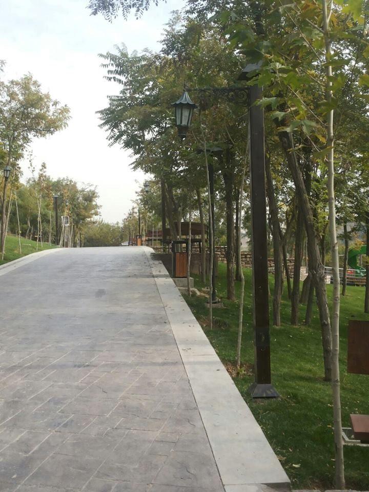 مراحل پایانی عملیات عمرانی احداث بوستان زیبا و بزرگ 18 هکتاری فدک، واقع در تهران