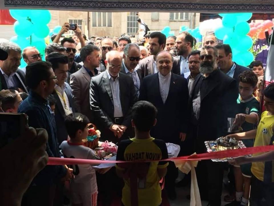 افتتاح پروژه های سالن ورزشی طبقاتی ایثار و جاده تندرستی مجموعه ورزشی تختی تهران و سالن ورزشی طبقاتی نظام آباد تهران