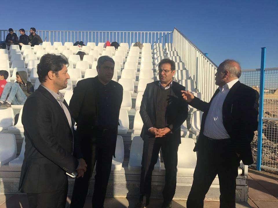 افتتاح فاز نخست استادیوم 5000 نفری گرمسار از پروژه های تحت نظارت شرکت در تاریخ 96/9/9 توسط جناب آقای دکتر سلطانی فر، وزیر محترم ورزش و جوانان
