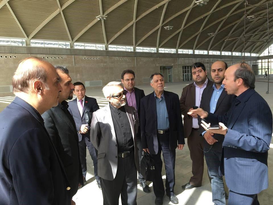 بازدید آقای مهندس رحیمیان، مدیرعامل و آقای مهندس ابریشمی، مدیر فنی و اجرایی شرکت از نمایشگاه بین المللی شهر آفتاب در تاریخ ۹۵/۷/۱۳