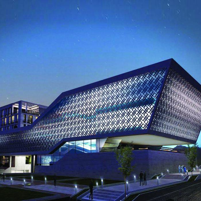 ساختمان مرکزی و سالن های همایش های دانشگاه علامه طباطبایی