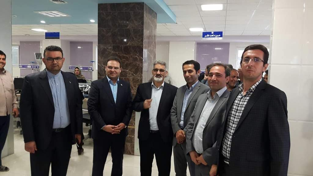 Emergency department of Qamar Bani Hashem Khoy Hospital was opened by the Minister of Health and Medical Education