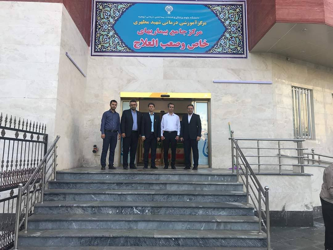 Visit of Mr. Rahimian, CEO, to the project of the development project of the Motahari Hospital of Oroomie on the 9th of September, 2018 .