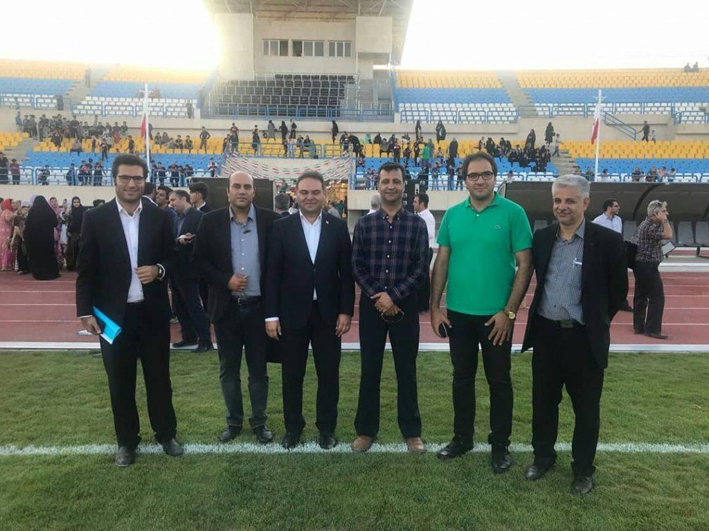 The opening ceremony of the 7000-seat Eslam Shahr stadium