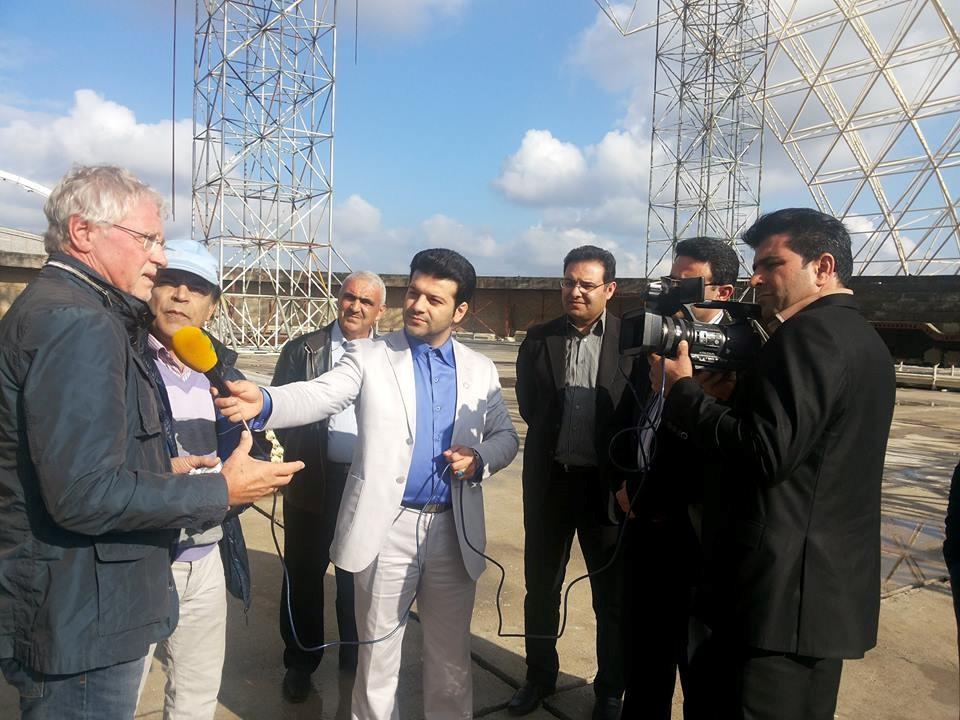 Visit of Engineer Sander Duma and Mr. Rahimian to the Sari Bike Track Project