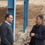 بازدید مهندس رحیمیان،  از پروژه سالن چند منظوره ورزشی شاهرود
