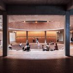Take a look at the art museum with bricks material