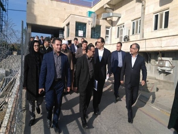بازدید وزیر محترم بهداشت، درمان و آموزش پزشکی از پروژه توسعه بیمارستان شهید راثی شاهین دژ