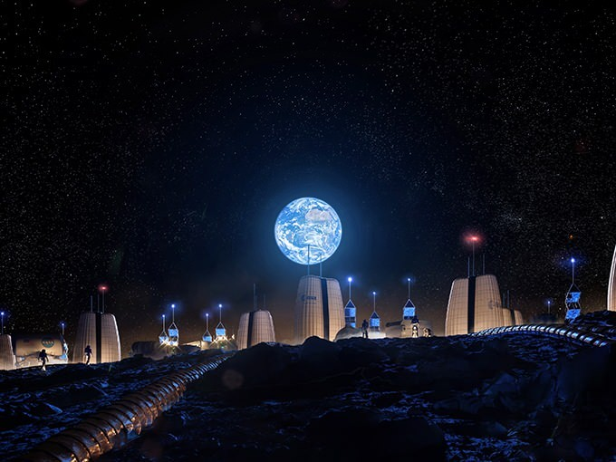 SOM Unveils Vision for First Human Settlement on the Moon