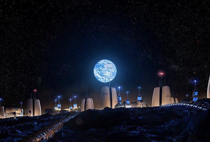 سم چشم انداز زیستگاه اول انسان در ماه را نشان می دهد