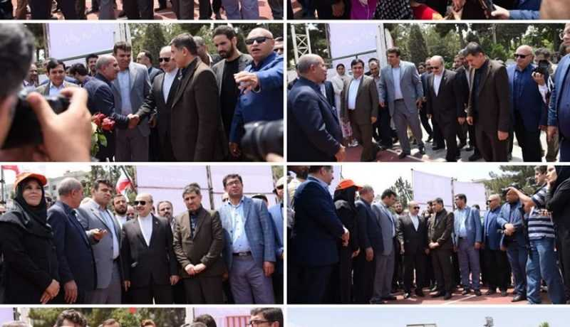 Opening of sports projects in Alborz province