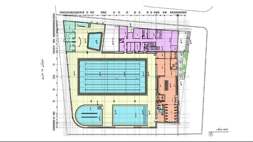 Design and supervision of the pool of Isar Shahroud Cultural and Sports Complex