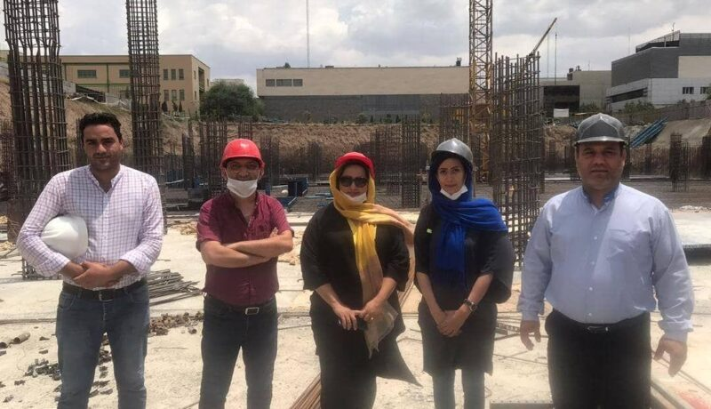 Visiting the ongoing workshop of Fanap company data center building